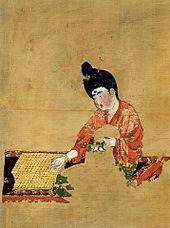 Žena igra Go, Dinastija Tang 744. godina